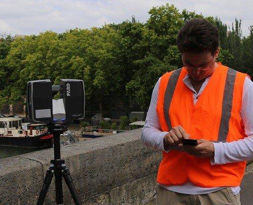 Scan 3D extérieur avec le scanner laser FARO focus - Digitage