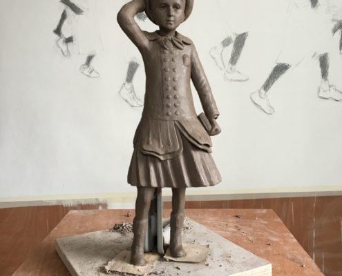 Statue du Petit Marcel par l'artiste Charles Sauvat