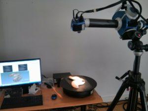 Séance de scan 3D d'un modèle végétal avec le scanner Breuckmann SmartScan