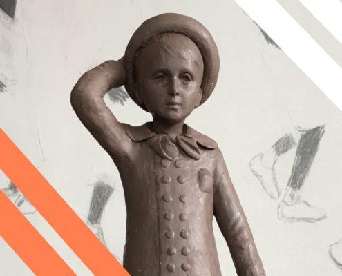 le petit Marcel de Charles Sauvat Numérisé en 3D après avoir été scanné grace aux caméras et appareils de scan 3D de Digitage