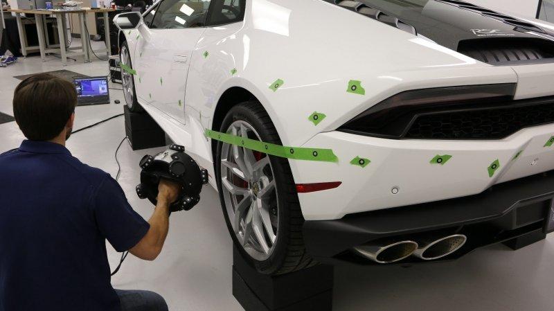 scan 3D d'une voiture pour rétro-ingénierie pour optimisation, amélioration ou customisation