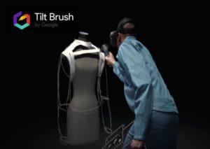 le système de tilt brush, permettant de créer vurtuellement des oeuvres en 3D