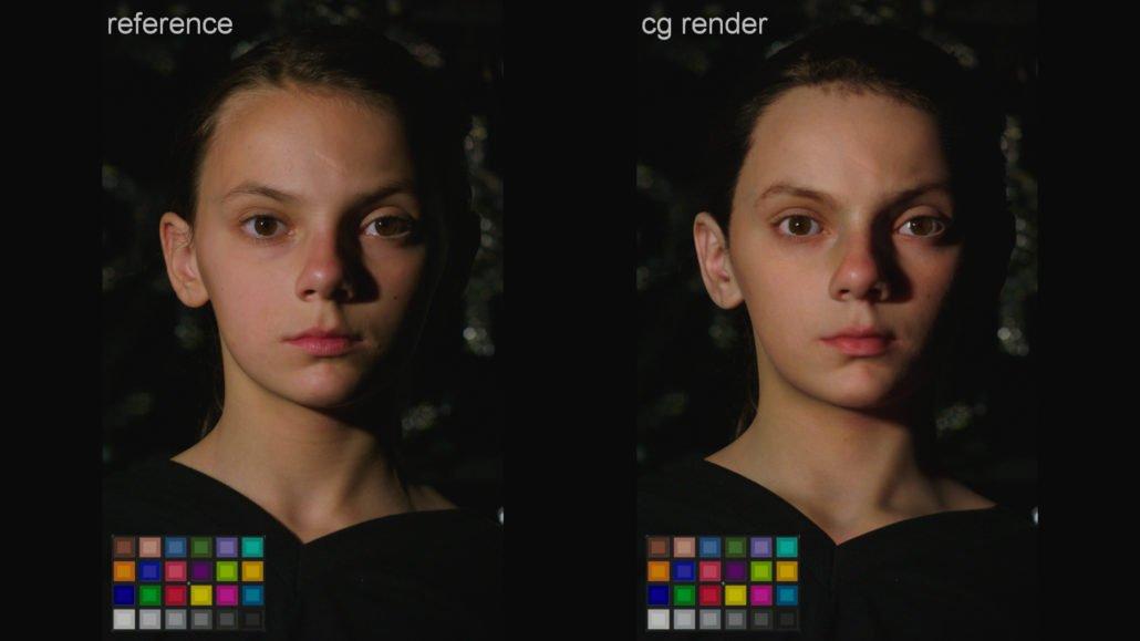 scan 3D de l'actrice de logan