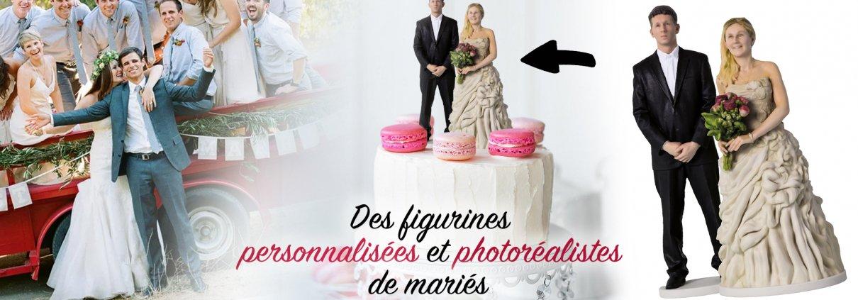 la photogrammétrie permet de créer des modèles en 3d, et une fois imprimés ceux-ci deviennent des figurines personnalisées pour mariage d'une extrême qalité