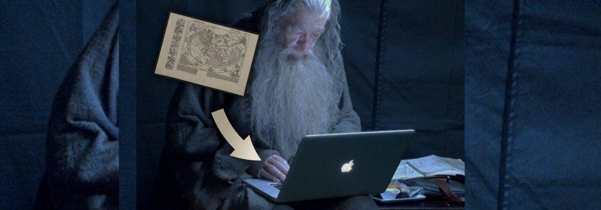 comment réaliser un scan et numériser une carte datant de l'époque de christophe colomb